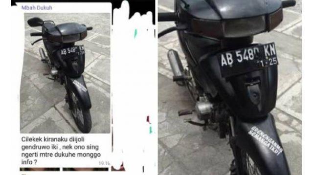 pencurian motor dinas